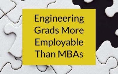 Engineering Graduates Score Higher on Employability Than MBA